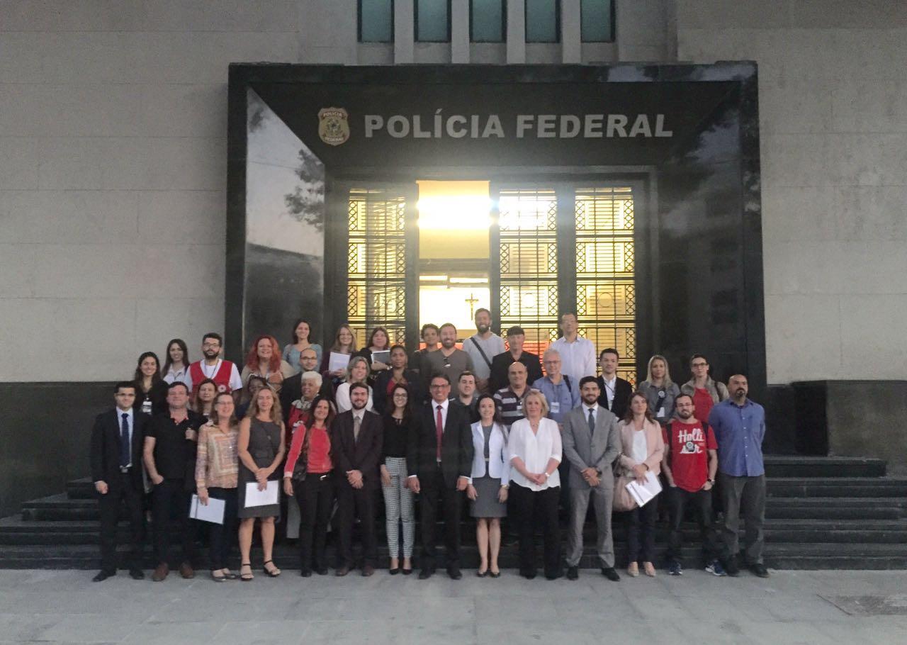 ABRAPAVAA palestra ao Comitê Olímpico da Rio 2016 na Polícia Federal